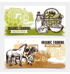 Farm Horizontal Banners vector image vector image