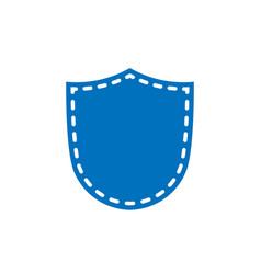 shield icon shape emblem vector image vector image