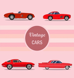 vintage car 02 vector image