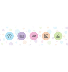 5 arrival icons vector