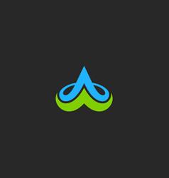 Abstract loop arrow ornament logo vector