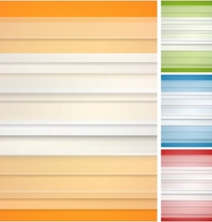 Abstract striped backgrounds set vector image