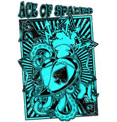 ace spades vector image