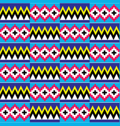 African kente nwentoma geometric pattern vector