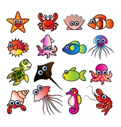 Aquatic animals vector
