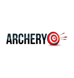 Archery word art vector