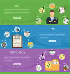auditing tax and business accounting banners vector image