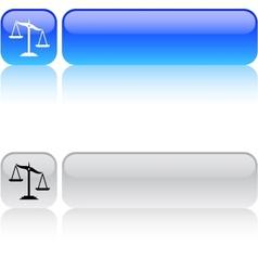 Balance square button vector image
