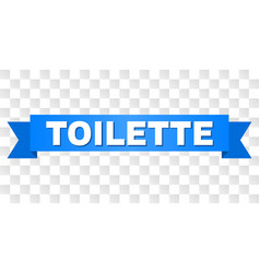 Blue stripe with toilette text vector