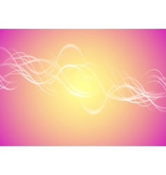 Blurred bright waves vector image