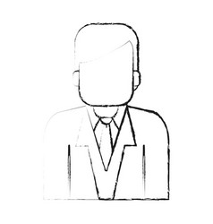 blurred silhouette half body faceless man with vector image