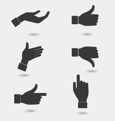 Business hand icon vector image