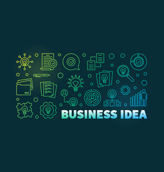 business idea colorful line banner on dark vector image