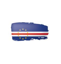 Cape verde flag on a white vector