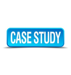 Case study blue 3d realistic square isolated vector