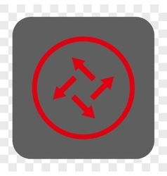 Centrifugal Arrows Rounded Square Button vector