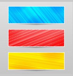 Comic horizontal banners vector
