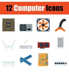 Computer icon set vector image