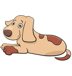 cute puppy or dog cartoon animal character vector image