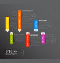 Dark horizontal infographic timeline report vector