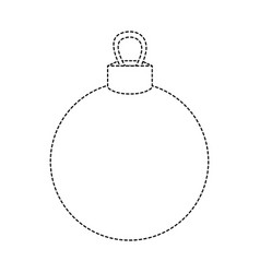 Dotted shape circle ball decoration to christmas vector