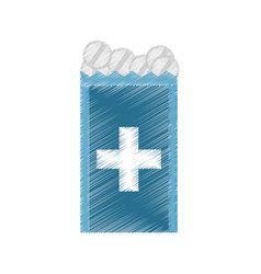 Drawing pack medicine pill icon vector