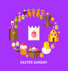easter sunday postcard vector image vector image