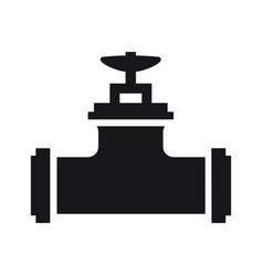 element silhouette single faucet coupling vector image