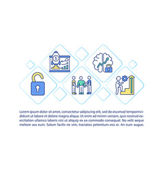 Employees motivation strategies concept icon vector