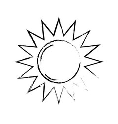 Figure sun light to sunny weather on vacation vector