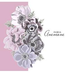 floral card design garden flower lavender vector image