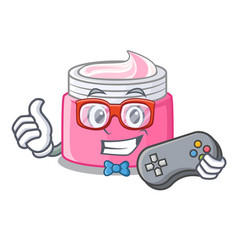 gamer face cream isolated with the mascot vector image