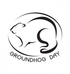 ground hog day vector image