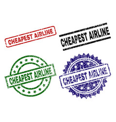 Grunge textured cheapest airline seal stamps vector