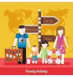 Happy Family Trip Traveling Holiday vector
