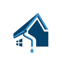 House rogutter logo design home pipe vector