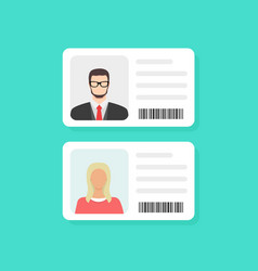 Identification card personal info data identity vector