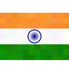 Indian flag - square polygonal style vector