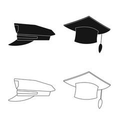 Isolated object of headgear and cap logo vector