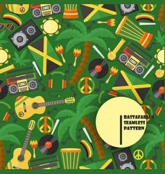Jamaica rastafarian seamless pattern vector