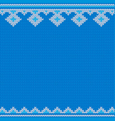 Knitted new year traditional pattern template vector