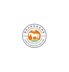 Logo design horse vector