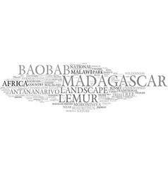 madagascar word cloud concept vector image