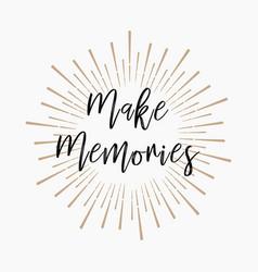 Make memories gold glitter background vector