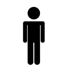 male figure silhouette icon vector image