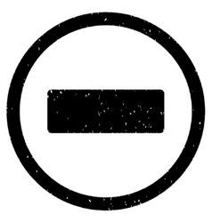 Minus Icon Rubber Stamp vector