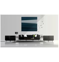 Modern living room design interior background vector