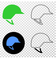 motorcycle helmet eps icon with contour vector image