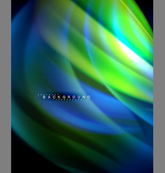 Neon holographic fluid color wave for web vector