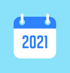 New year 2021 calendar icon vector